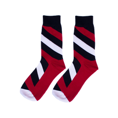 Red Stripes Socks - C&C Socks - Cool & Crazy Socks