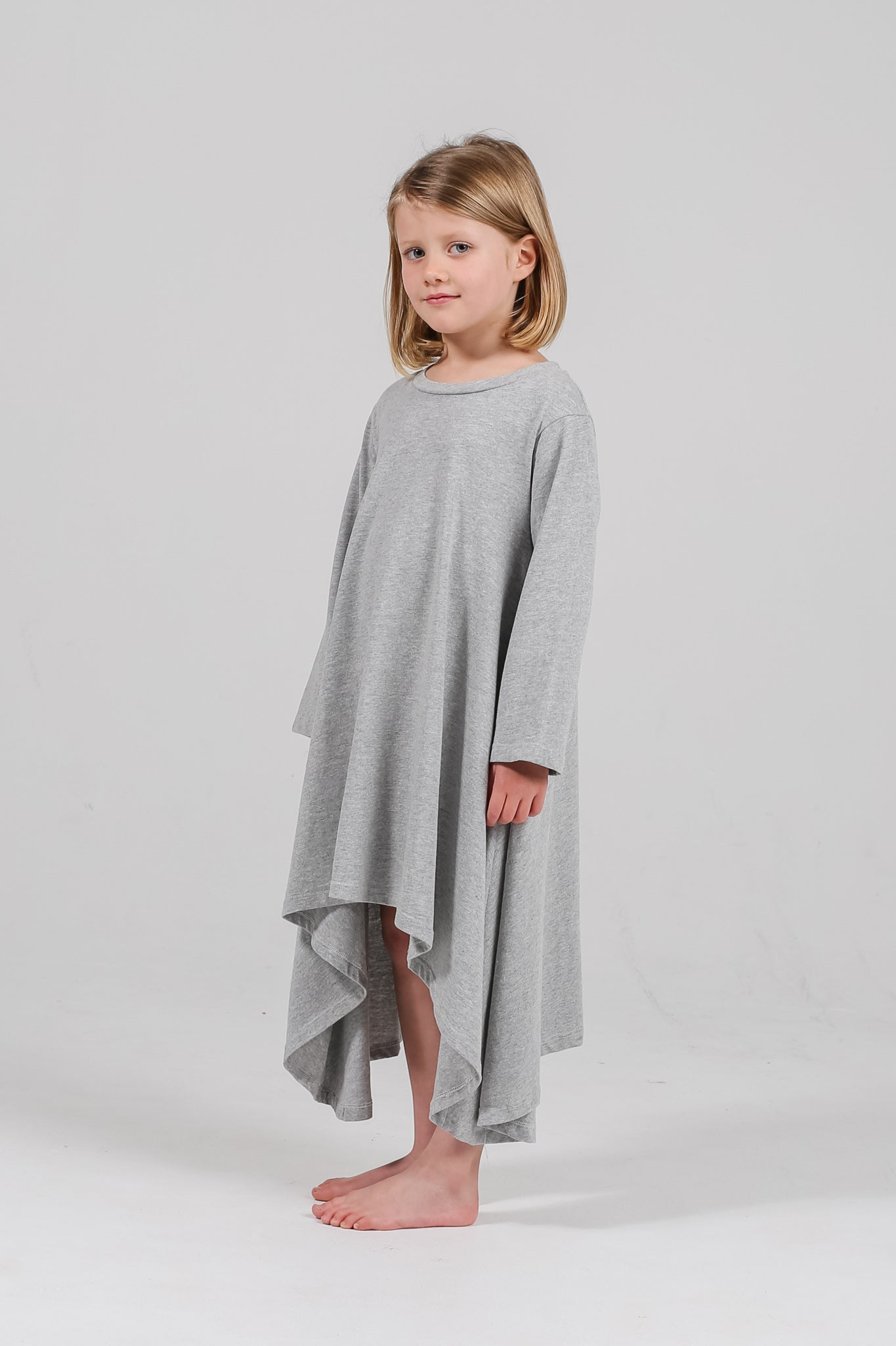 Grey Marle long-sleeve filly dress