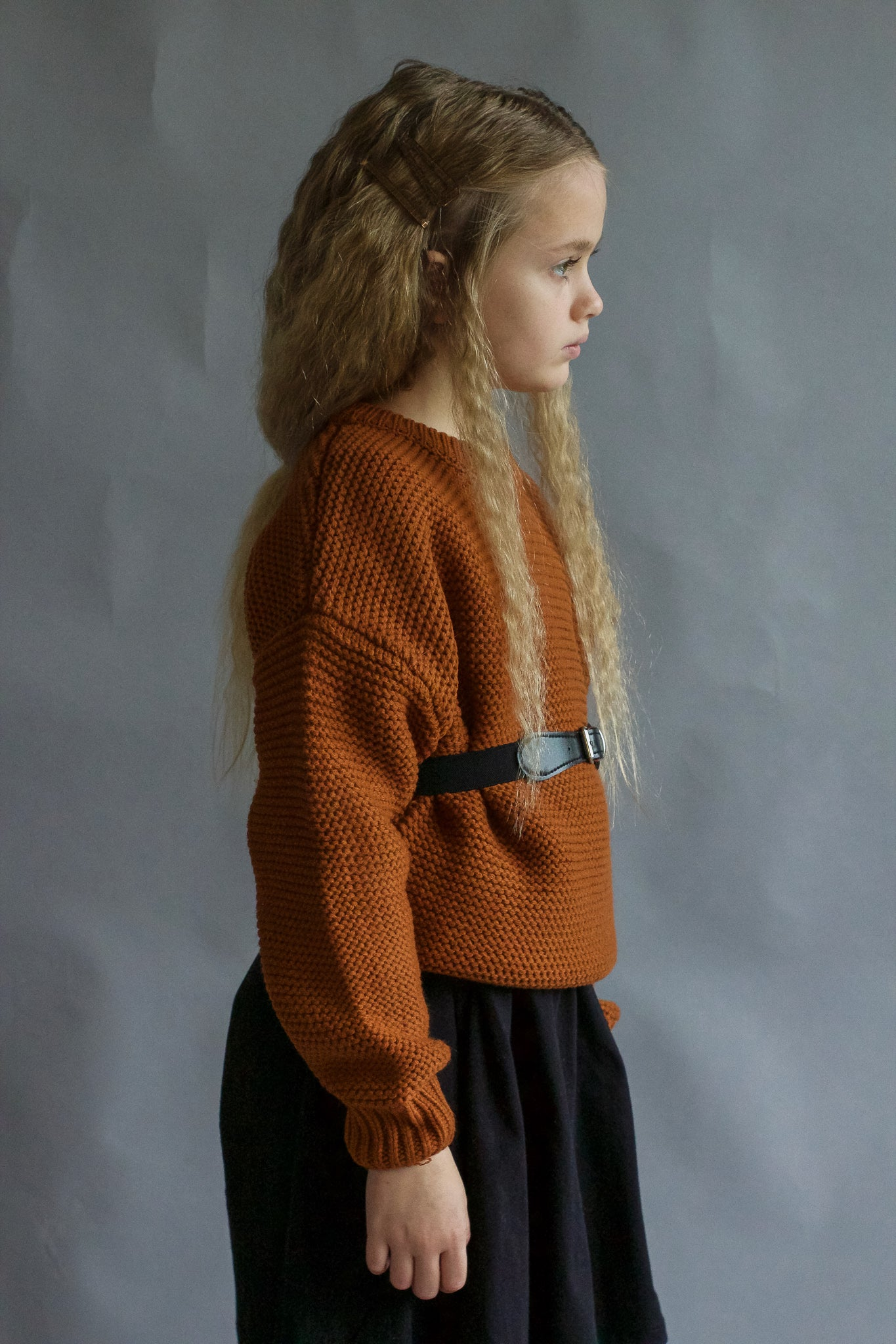 Rust Chunky Knit Jumper