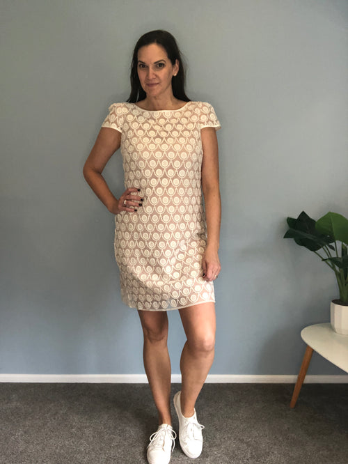 Sacha Drake little white dress size 12
