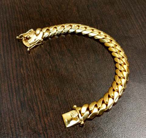 Gold Plated Sterling Silver Miami Cuban Link Bracelet