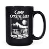 Camp Crystal Lake - 11oz/15oz Black Mug-Coffee Mug-CustomCat-15oz Mug-Black-