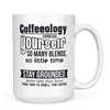 Coffeeology - 11oz/15oz White Mug-Coffee Mug-CustomCat-15oz Mug-White-