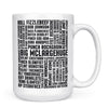 David Ryder Names - 11oz/15oz White Mug-Coffee Mug-CustomCat-15oz Mug-White-