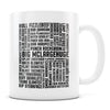 David Ryder Names - 11oz/15oz White Mug-Coffee Mug-CustomCat-11oz Mug-White-