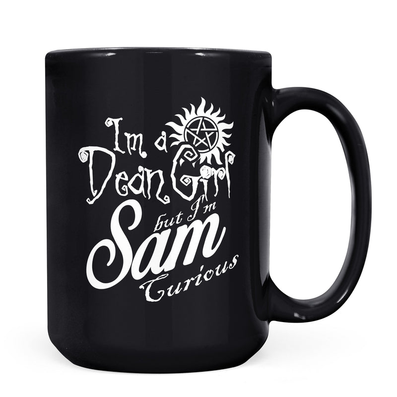 Dean Girl - 11oz/15oz Black Mug-Coffee Mug-CustomCat-11oz Mug-Black-