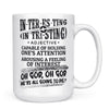 Define Interesting - 11oz/15oz White Mug-Coffee Mug-CustomCat-15oz Mug-White-