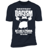 Destroy Racism Like a Panda - T-Shirt-T-Shirt-CustomCat-Men's T-Shirt-Midnight Navy-S