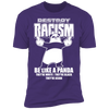 Destroy Racism Like a Panda - T-Shirt-T-Shirt-CustomCat-Men's T-Shirt-Purple-S