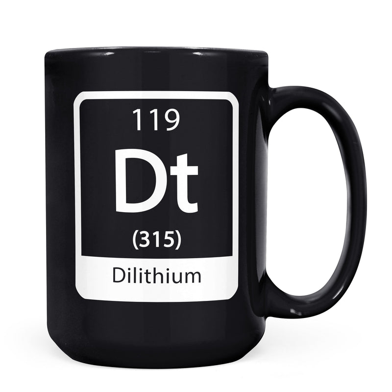 Dilithium - 11oz/15oz Black Mug-Coffee Mug-CustomCat-11oz Mug-Black-