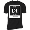 Dilithium Periodic Symbol - T-Shirt-T-Shirt-CustomCat-Men's T-Shirt-Black-S
