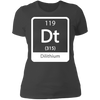 Dilithium Periodic Symbol - T-Shirt-T-Shirt-CustomCat-Women's T-Shirt-Heavy Metal-X-Small