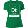 Dilithium Periodic Symbol - T-Shirt-T-Shirt-CustomCat-Women's T-Shirt-Kelly Green-X-Small