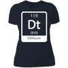 Dilithium Periodic Symbol - T-Shirt-T-Shirt-CustomCat-Women's T-Shirt-Midnight Navy-X-Small