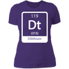 Dilithium Periodic Symbol - T-Shirt-T-Shirt-CustomCat-Women's T-Shirt-Purple-X-Small