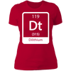 Dilithium Periodic Symbol - T-Shirt-T-Shirt-CustomCat-Women's T-Shirt-Red-X-Small