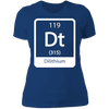Dilithium Periodic Symbol - T-Shirt-T-Shirt-CustomCat-Women's T-Shirt-Royal Blue-X-Small