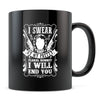 Floral Bonnet - 11oz/15oz Black Mug-Coffee Mug-CustomCat-11oz Mug-Black-
