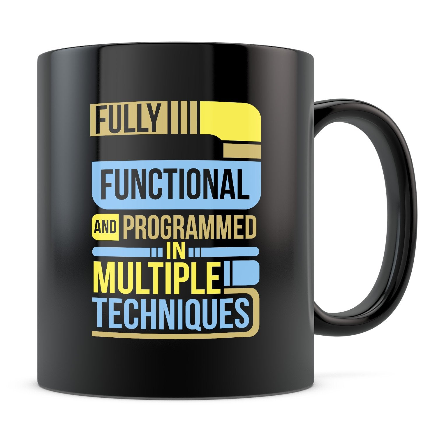 Fully Functional - 11oz/15oz Black Mug-Coffee Mug-CustomCat-11oz Mug-Black-