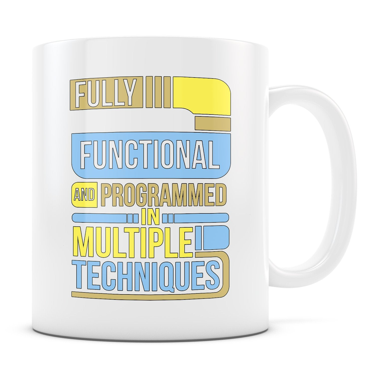 Fully Functional - 11oz/15oz White Mug-Coffee Mug-CustomCat-11oz Mug-White-