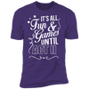 Fun and Games Until Act II - T-Shirt-T-Shirt-CustomCat-Men's T-Shirt-Purple-S