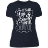 Fun and Games Until Act II - T-Shirt-T-Shirt-CustomCat-Women's T-Shirt-Midnight Navy-X-Small