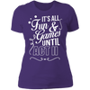 Fun and Games Until Act II - T-Shirt-T-Shirt-CustomCat-Women's T-Shirt-Purple-X-Small