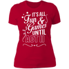 Fun and Games Until Act II - T-Shirt-T-Shirt-CustomCat-Women's T-Shirt-Red-X-Small