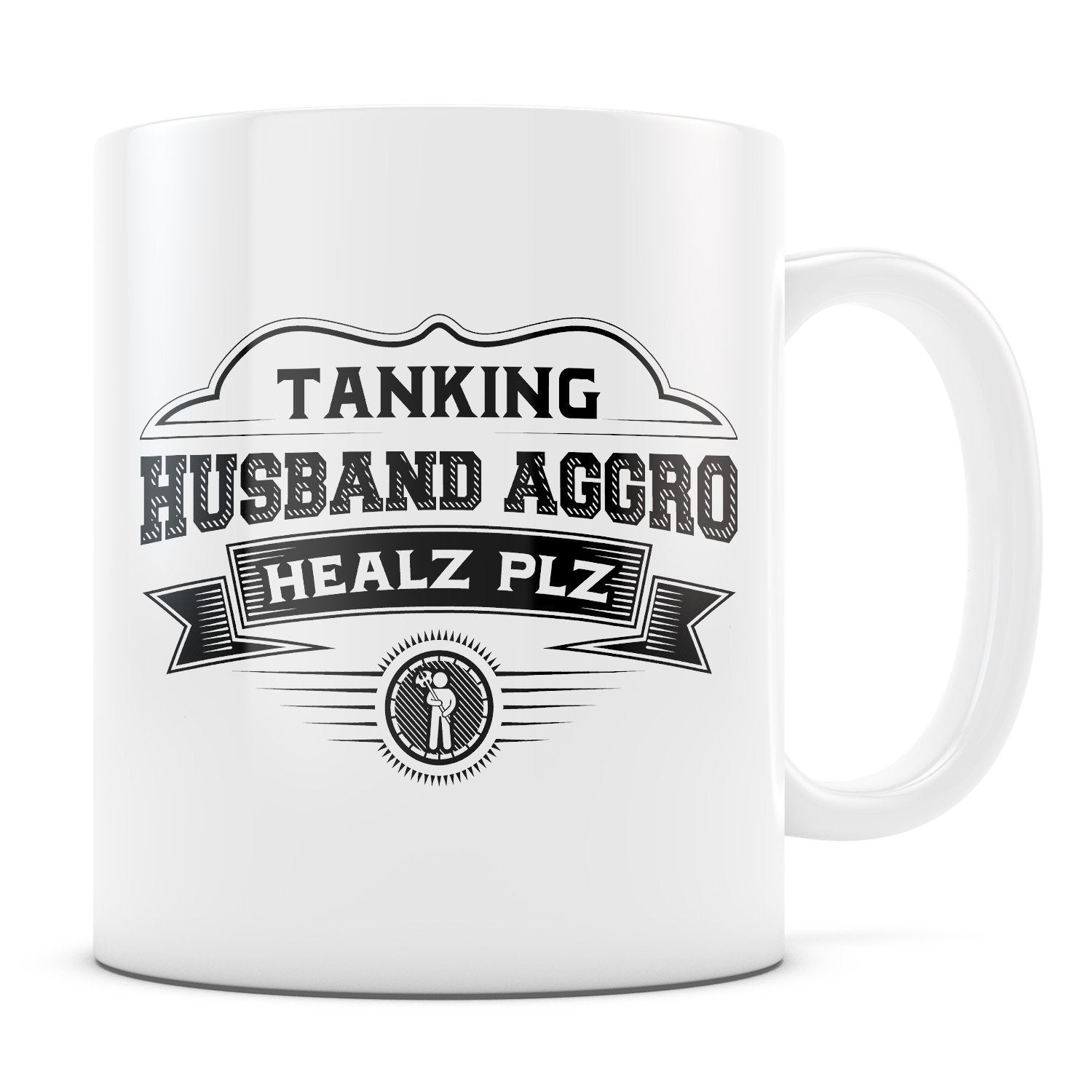 Husband Aggro - 11oz/15oz White Mug-Coffee Mug-CustomCat-11oz Mug-White-
