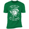 I Knew Who I Was This Morning - T-Shirt-T-Shirt-CustomCat-Men's T-Shirt-Kelly Green-S