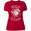 I Knew Who I Was This Morning - T-Shirt-T-Shirt-CustomCat-Women's T-Shirt-Red-X-Small