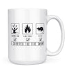I Survived the Fire Swamp - 11oz/15oz White Mug-Coffee Mug-CustomCat-15oz Mug-White-