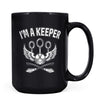 I'm a Keeper - 11oz/15oz Black Mug-Coffee Mug-CustomCat-15oz Mug-Black-