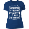 Losing Side Not the Wrong One - T-Shirt-T-Shirt-CustomCat-Women's T-Shirt-Royal Blue-X-Small