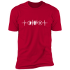MMO Heartbeat - T-Shirt-T-Shirt-CustomCat-Men's T-Shirt-Red-S