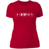 MMO Heartbeat - T-Shirt-T-Shirt-CustomCat-Women's T-Shirt-Red-X-Small