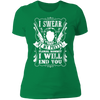 My Pretty Floral Bonnet - T-Shirt-T-Shirt-CustomCat-Women's T-Shirt-Kelly Green-X-Small