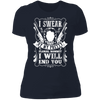 My Pretty Floral Bonnet - T-Shirt-T-Shirt-CustomCat-Women's T-Shirt-Midnight Navy-X-Small