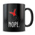 Nope - 11oz/15oz Black Mug-Coffee Mug-CustomCat-11oz Mug-Black-
