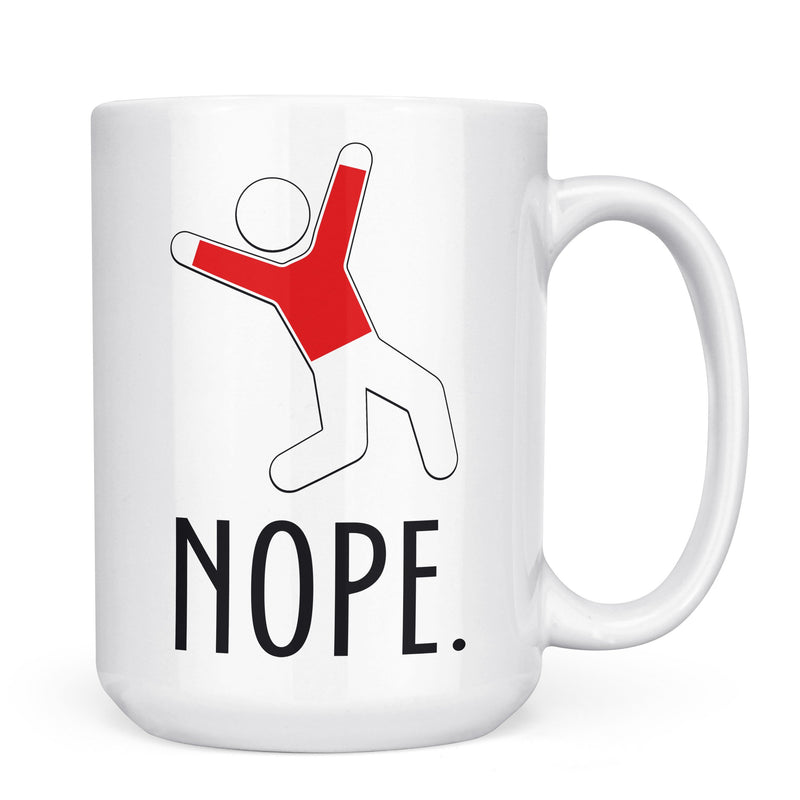 Nope - 11oz/15oz White Mug-Coffee Mug-CustomCat-11oz Mug-White-