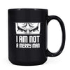 Not a Merry Man - 11oz/15oz Black Mug-Coffee Mug-CustomCat-15oz Mug-Black-