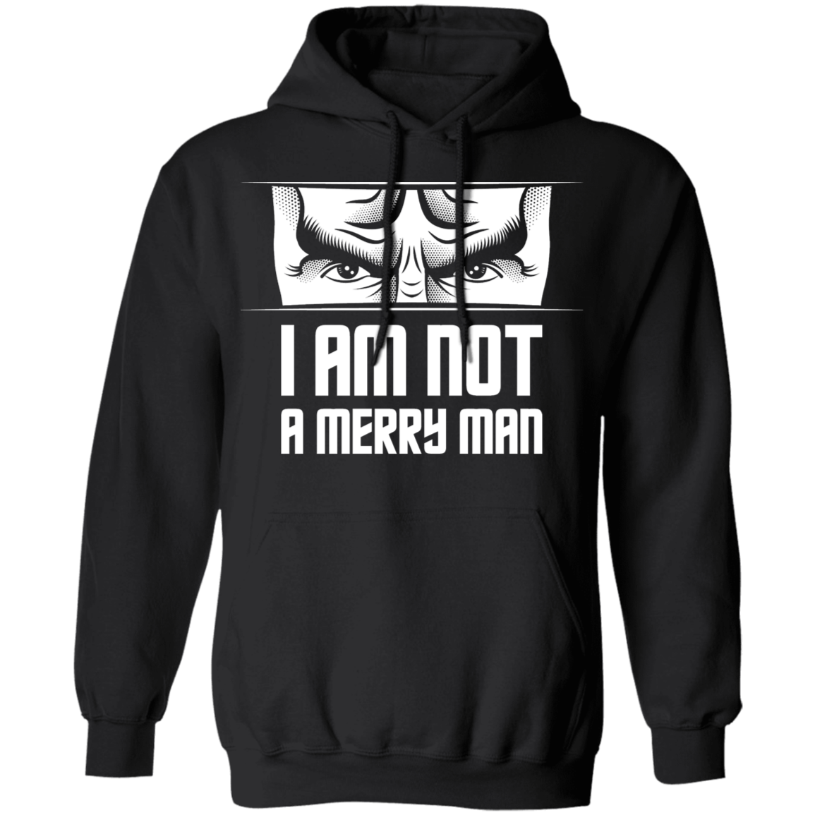 Not a Merry Man - Hoodie-Hoodie-CustomCat-Black-S-