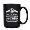 Ode Lyrics - 11oz/15oz Black Mug-Coffee Mug-CustomCat-15oz Mug-Black-