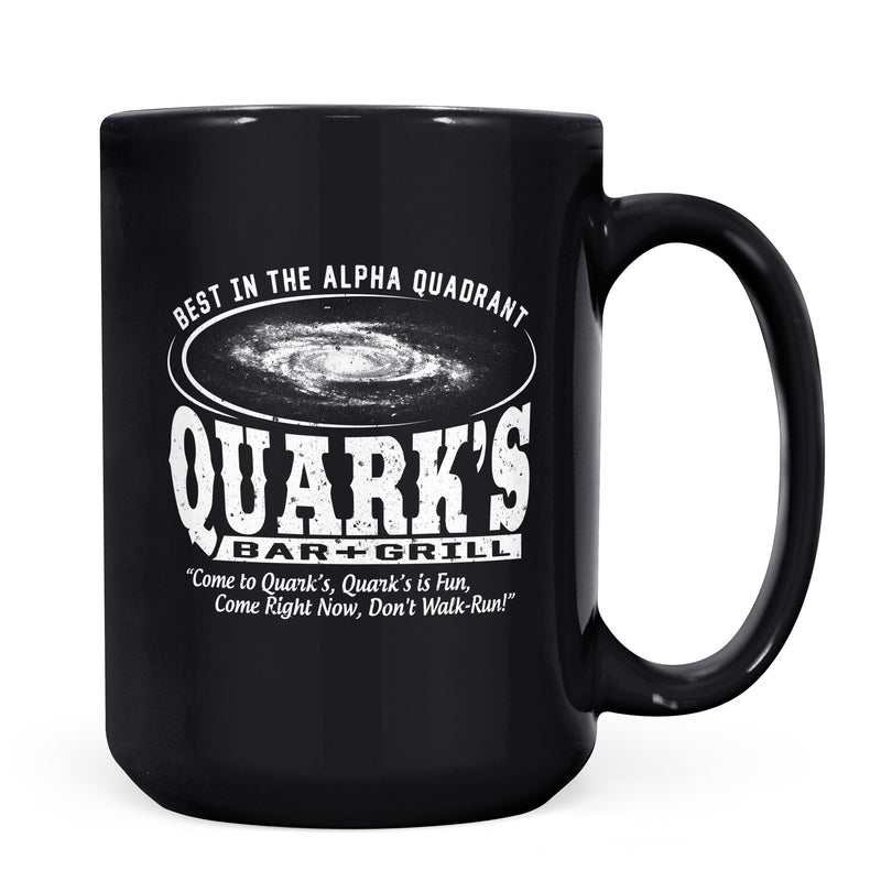 Quark's Bar - 11oz/15oz Black Mug-Coffee Mug-CustomCat-11oz Mug-Black-