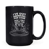 Quit Drinking Good - 11oz/15oz Black Mug-Coffee Mug-CustomCat-15oz Mug-Black-