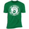 Real Assassins Don't Wear White - T-Shirt-T-Shirt-CustomCat-Men's T-Shirt-Kelly Green-S