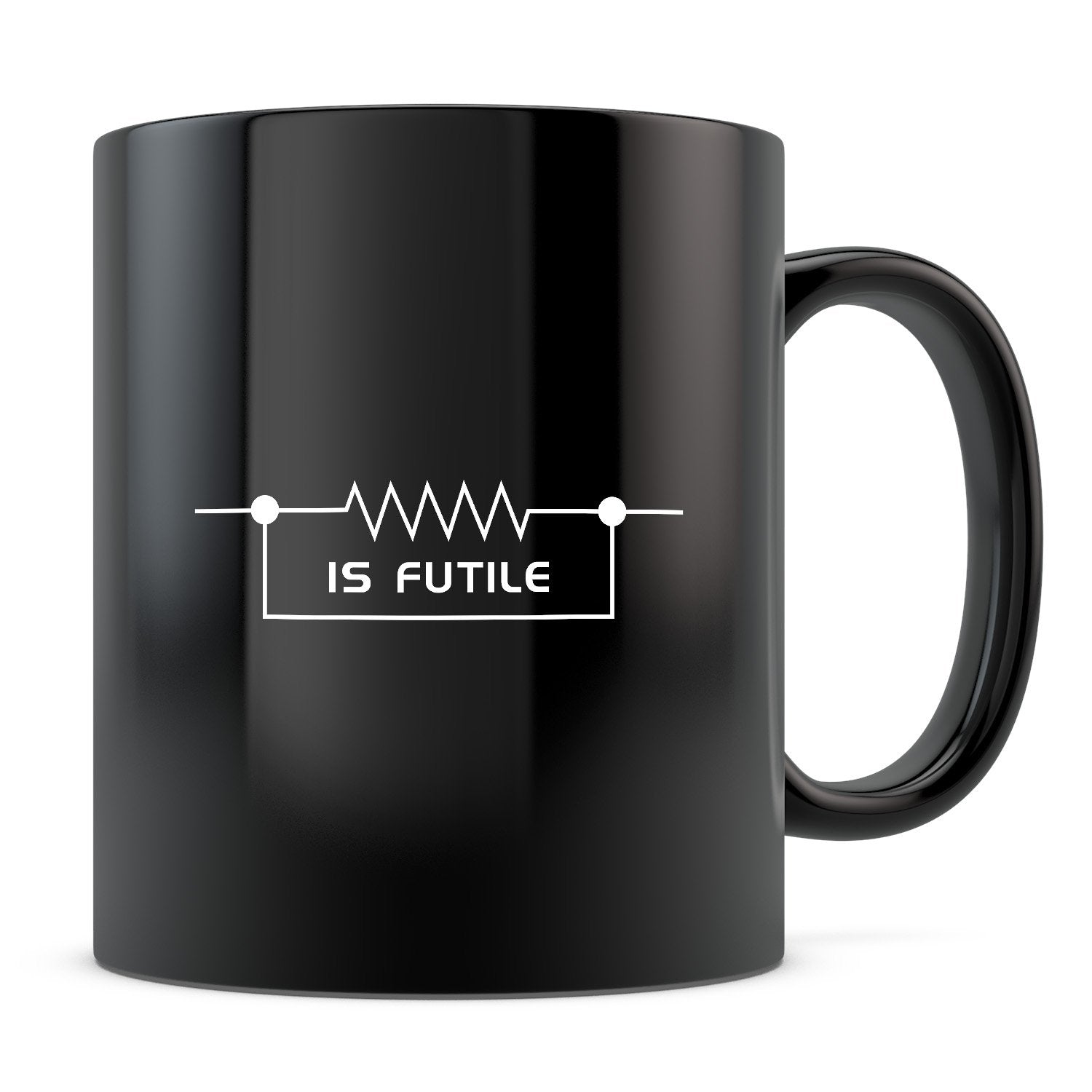 Resistance - 11oz/15oz Black Mug-Coffee Mug-CustomCat-11oz Mug-Black-