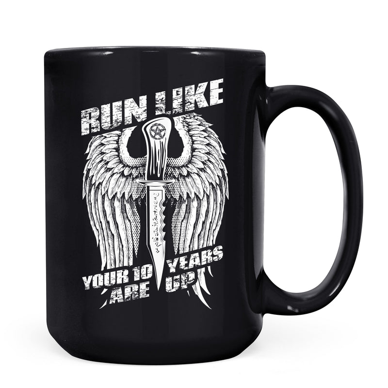 Run 10 Years - 11oz/15oz Black Mug-Coffee Mug-CustomCat-11oz Mug-Black-