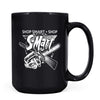 S-Mart - 11oz/15oz Black Mug-Coffee Mug-CustomCat-15oz Mug-Black-