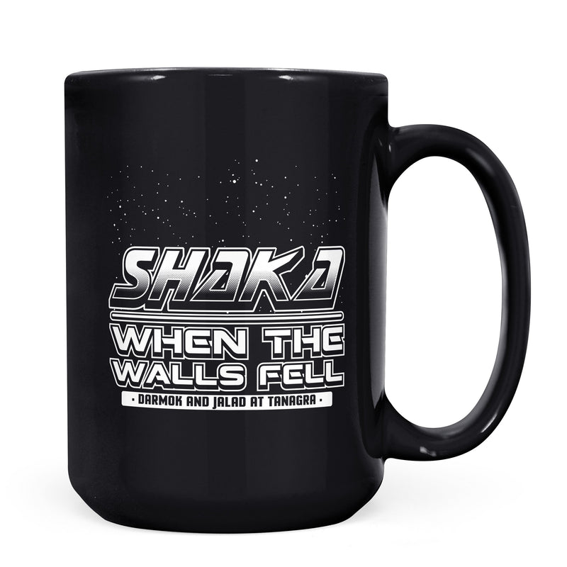 Shaka When the Walls Fell - 11oz/15oz Black Mug-Coffee Mug-CustomCat-11oz Mug-Black-